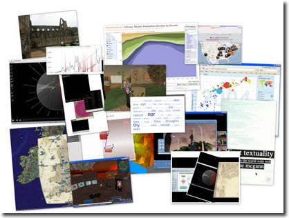 Collage of digital projects